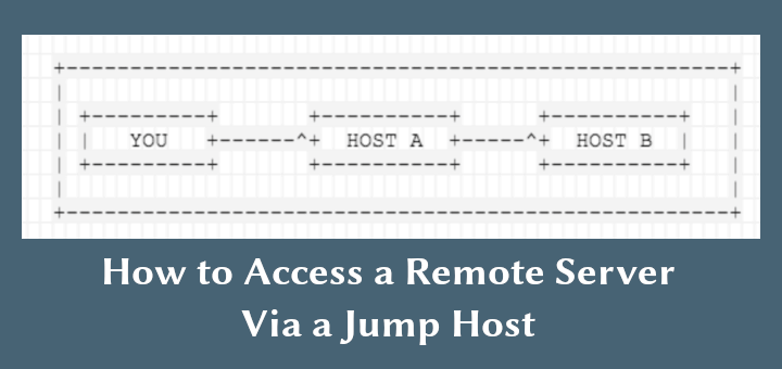 So greifen Sie mit einem Jump-Host auf einen Remote-Server zu