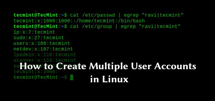 So erstellen Sie mehrere Benutzerkonten unter Linux