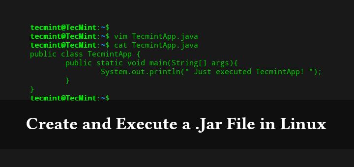 Erstellen und Ausführen einer JAR-Datei im Linux-Terminal