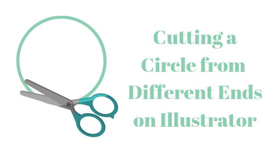 So schneiden Sie in Illustrator einen Kreis in verschiedene Pfade