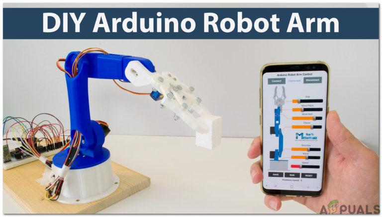 Wie erstelle ich einen DIY Arduino und Bluetooth gesteuerten Roboterarm?