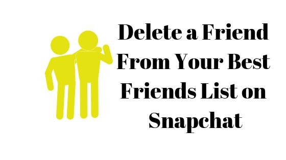 So löschen Sie jemanden aus Ihrer Liste der besten Freunde auf Snapchat