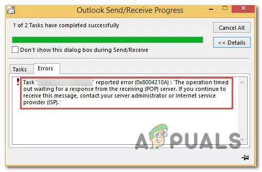 Wie Outlook-Fehler 0x8004210A unter Windows?