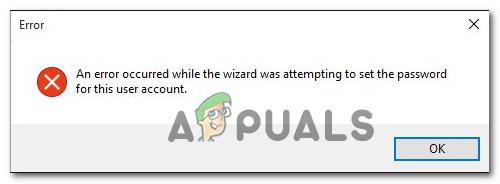 [FIX] Fehler aufgetreten, als der Assistent versuchte, das Kennwort für dieses Benutzerkonto festzulegen
