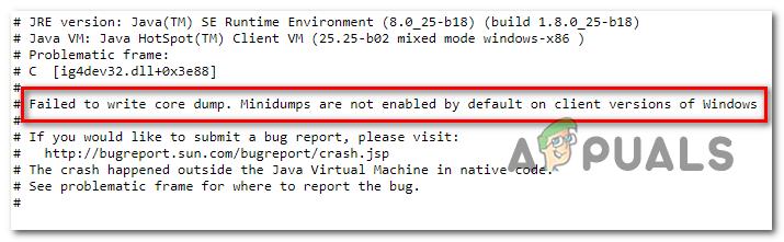 """So beheben Sie den Minecraft-Fehler """"Core Dump konnte nicht geschrieben werden"""" unter Windows 10"""