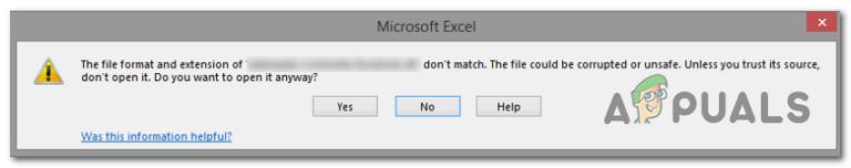 """Fehler """"Dateiformat und Erweiterung stimmen nicht überein"""" in Excel behoben"""