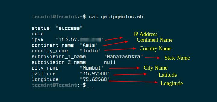 So finden Sie den geografischen Speicherort von Linux Server im Terminal