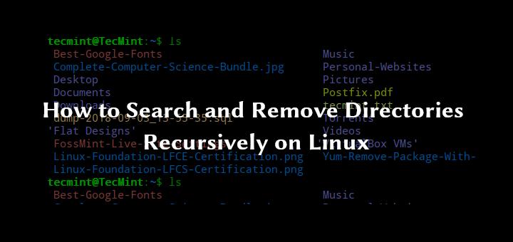 Rekursives Suchen und Entfernen von Verzeichnissen unter Linux