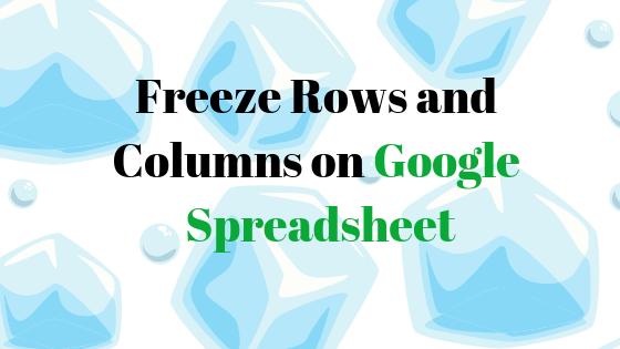 """Wie verwende ich die Funktion """"Einfrieren"""" in Google Spreadsheet?"""