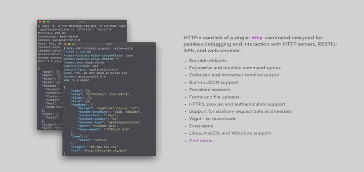 HTTPie – Ein moderner HTTP-Client, der Curl- und Wget-Befehlen ähnelt