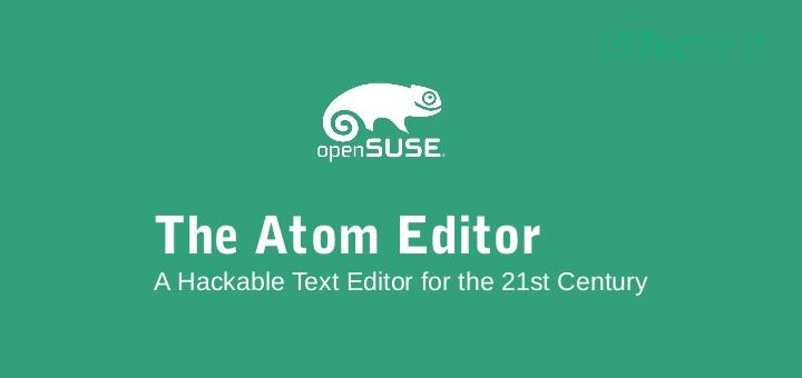 3 Möglichkeiten, Atom Text Editor in openSUSE zu installieren