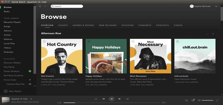 3 Möglichkeiten zur Installation von Spotify [Music Streaming] in Fedora Linux