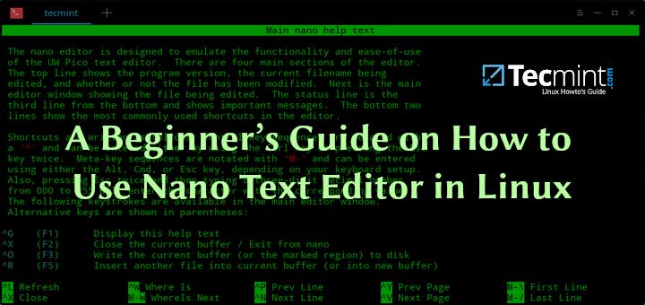 Ein Leitfaden für Anfänger zur Verwendung des Nano-Texteditors unter Linux