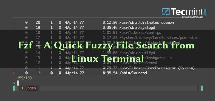 Fzf – Eine schnelle Fuzzy-Dateisuche vom Linux-Terminal aus