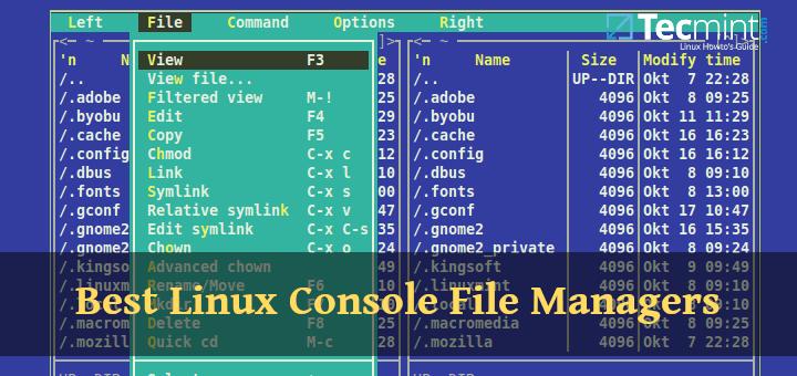 8 besten Linux Console-Dateimanager