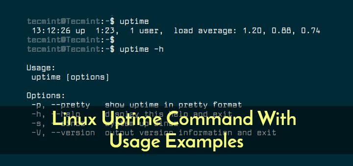 Linux Uptime-Befehl mit Verwendungsbeispielen