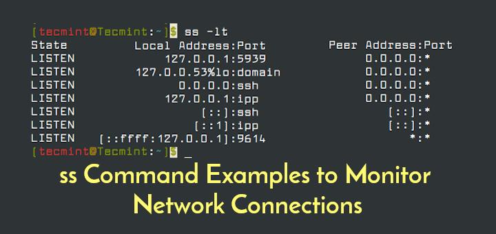 12 ss Befehlsbeispiele zum Überwachen von Netzwerkverbindungen