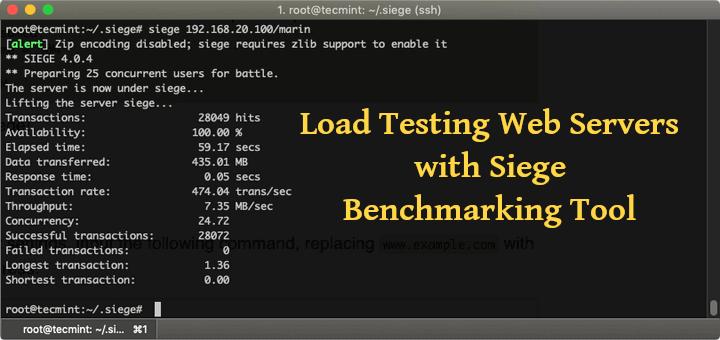 Lasttest-Webserver mit dem Siege Benchmarking Tool