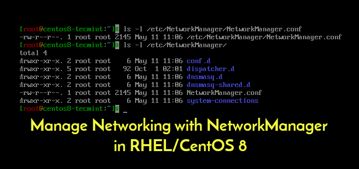 Verwalten des Netzwerks mit NetworkManager in RHEL / CentOS 8