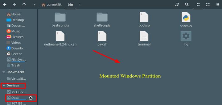 So mounten Sie Windows-Partitionen in Ubuntu