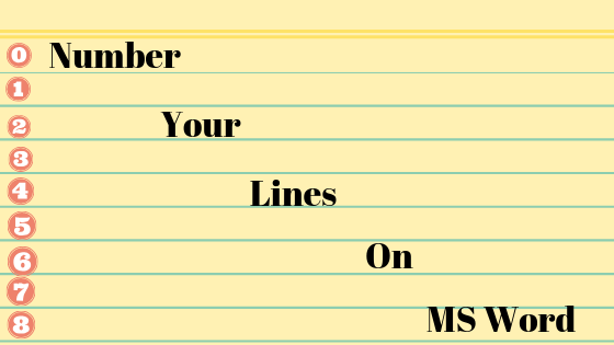 Wie nummerieren Sie Ihre Zeilen in einem Word-Dokument?