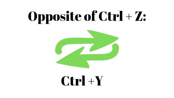 Rückgängig und Wiederherstellen mit Strg + Z und Strg + Y.