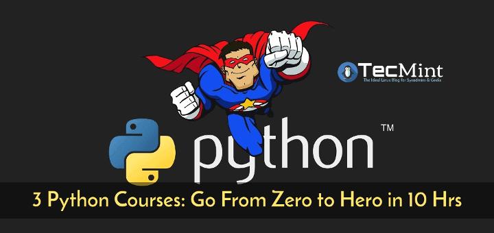 3 Python-Kurse: Gehen Sie in nur 10 Stunden von Null zu Held