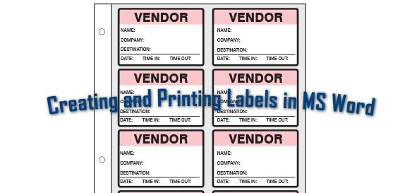 Professionelles Erstellen und Drucken verschiedener Beschriftungen in Microsoft Word