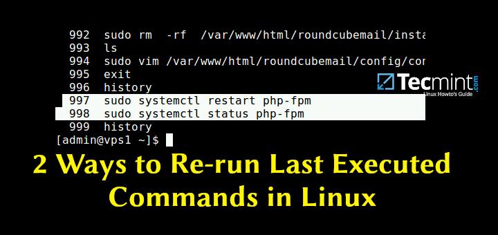 2 Möglichkeiten, die zuletzt ausgeführten Befehle unter Linux erneut auszuführen