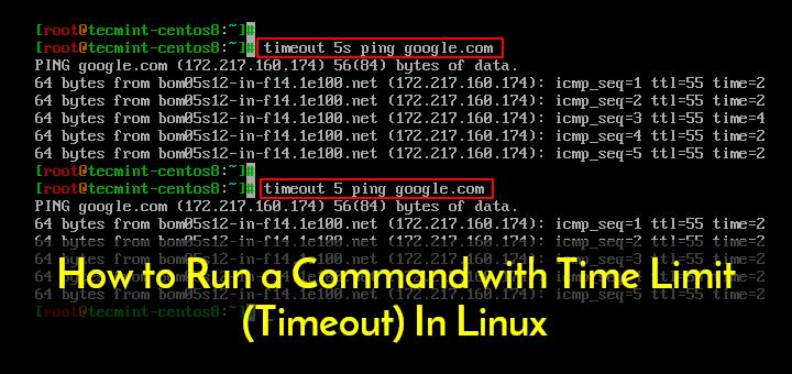 So führen Sie einen Befehl mit Zeitlimit (Timeout) unter Linux aus