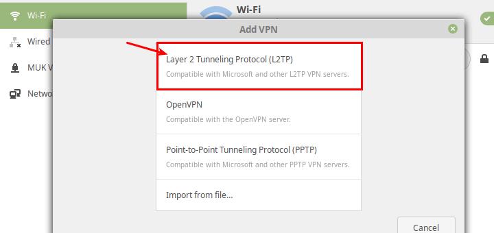 So richten Sie einen L2TP / IPsec-VPN-Client unter Linux ein