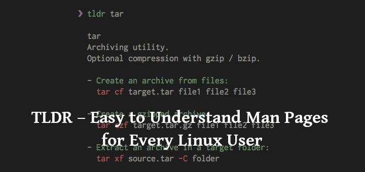 TLDR – Einfach zu verstehende Manpages für jeden Linux-Benutzer
