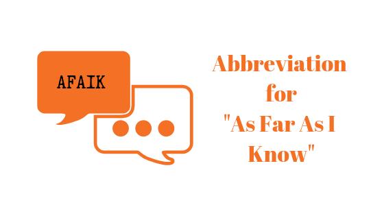 Was ist AFAIK und wo sollte es verwendet werden?