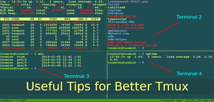5 Nützliche Tipps für bessere Tmux-Terminalsitzungen