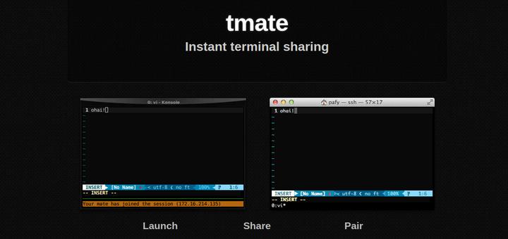 Tmate – SSH-Terminalsitzung sicher für Linux-Benutzer freigeben
