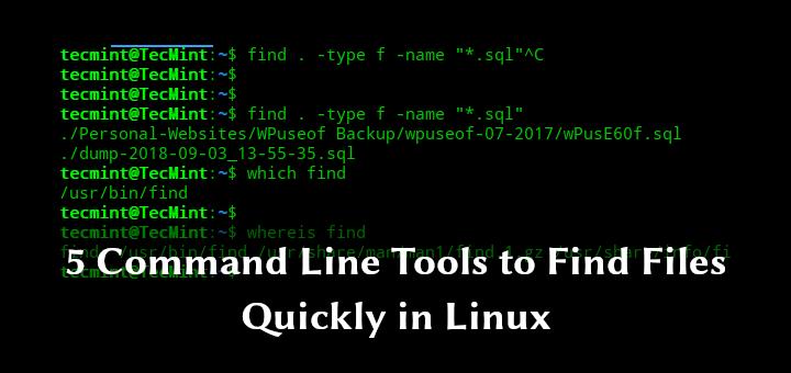 5 Befehlszeilentools zum schnellen Suchen von Dateien unter Linux