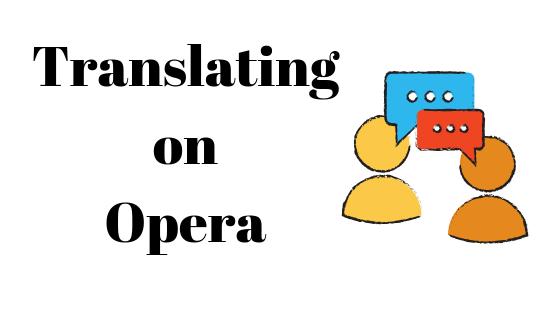 Übersetzen im Opera Browser