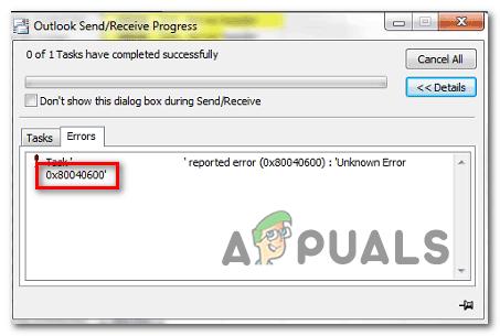 So beheben Sie den unbekannten Outlook-Fehler 0x80040600 unter Windows