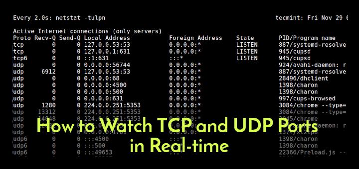 So überwachen Sie TCP- und UDP-Ports in Echtzeit