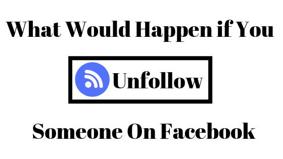 Was passiert, wenn Sie jemandem auf Facebook folgen?