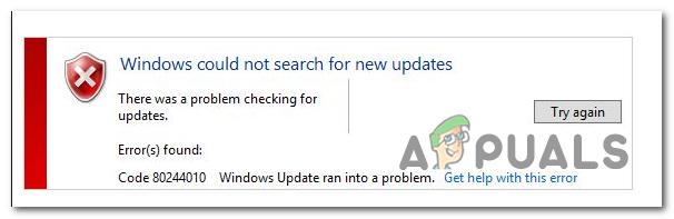 Fix: Windows Update Fehlercode 80244010