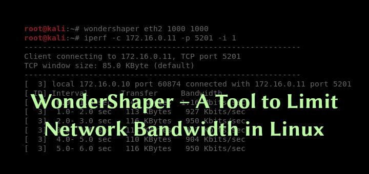 WonderShaper – Ein Tool zur Begrenzung der Netzwerkbandbreite unter Linux