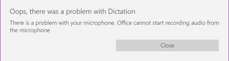 Fix: Ups, es gab ein Problem mit dem Diktat im Büro