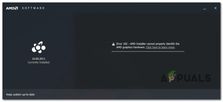 Wie behebt man den AMD-Treiberfehler 182?