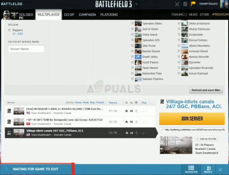 """Wie behebt man den Battlefield 3-Fehler """"Warten auf das Beenden des Spiels"""" unter Windows?"""