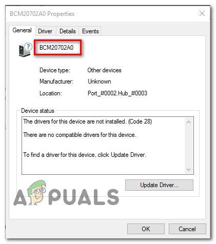 Wie behebt man den BCM20702A0-Treiberfehler unter Windows 7/8/10?
