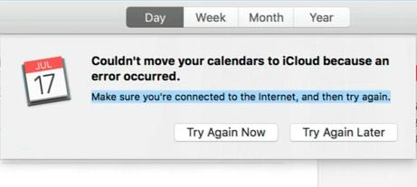 Ihre Kalender konnten nicht in iCloud verschoben werden, da ein Fehler aufgetreten ist (Fix)