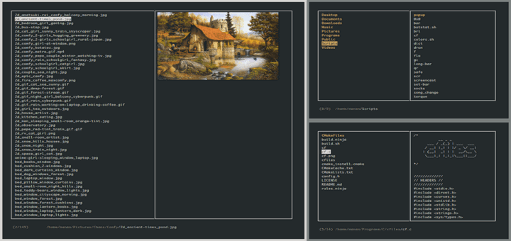 cfiles – Ein schneller Terminal-Dateimanager mit Vim-Tastenkombinationen
