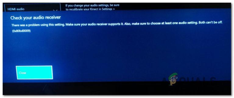 Wie behebe ich den 0x80bd0009 Audio Receiver Fehler auf Xbox One?
