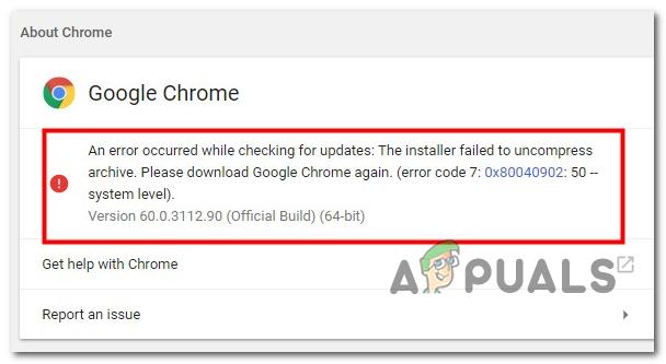 So beheben Sie den Google Chrome Update-Fehler 0x80040902